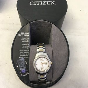 FE1144-85B Citizen Crystal Accented Women's Watch